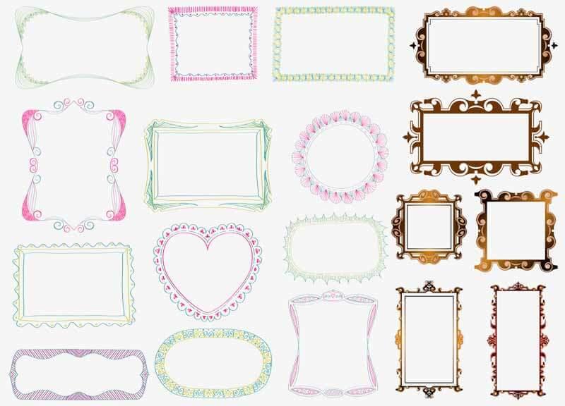Рамки для Фотошопа на прозрачном фоне