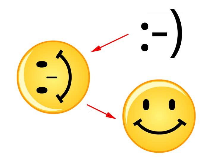 Что значит смайл улыбки. Смеющийся смайл - обозначение текстового
